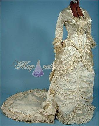 свадебное платье 19 век картинка
