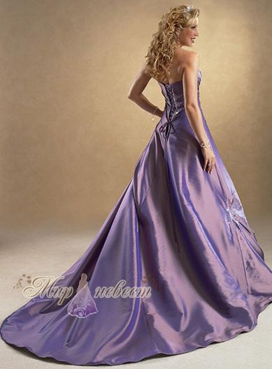 фиолетовое свадебное платье картинка
