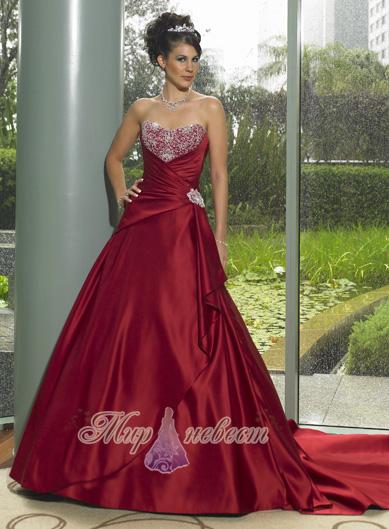 красное свадебное платье картинка