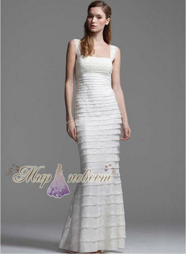 свадебное платье в стиле русалка картинка