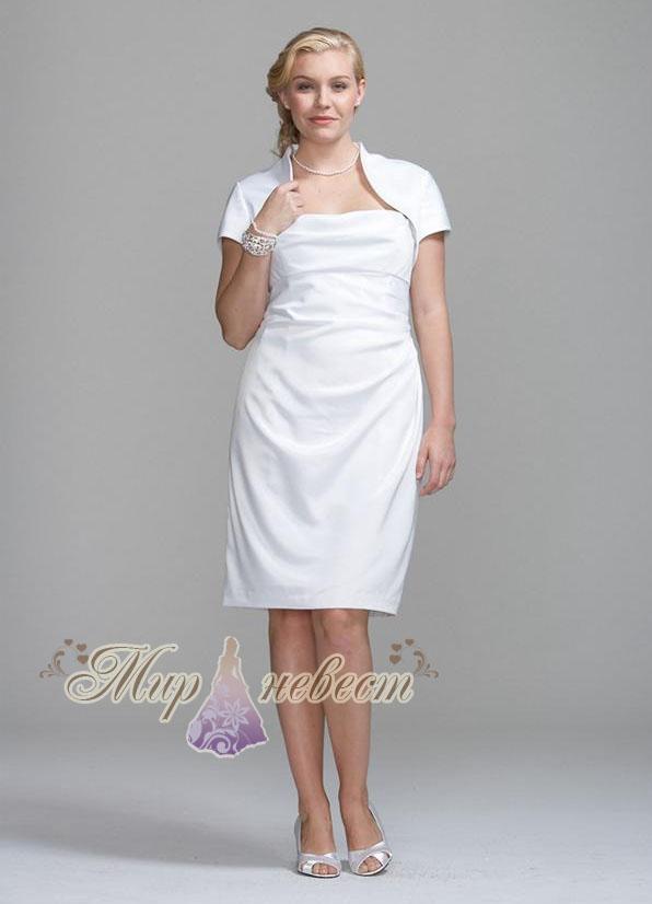 Стильное, короткое свадебное платье