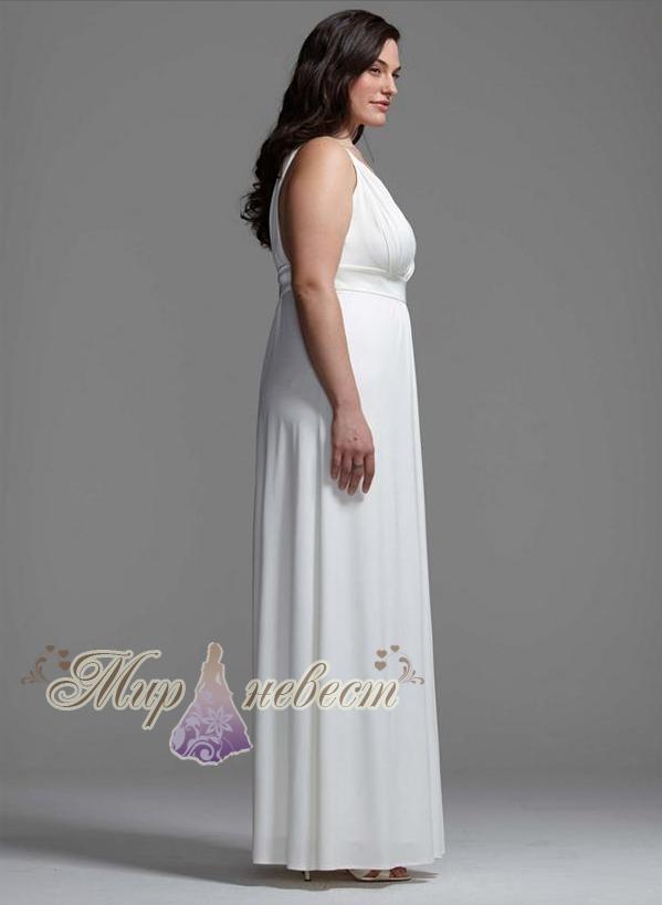 Недорогое свадебное платье большого