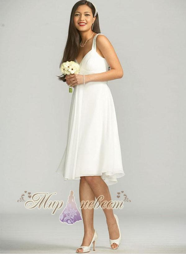 Эксклюзивные короткое свадебное платье Распродажа платья спб. платье.