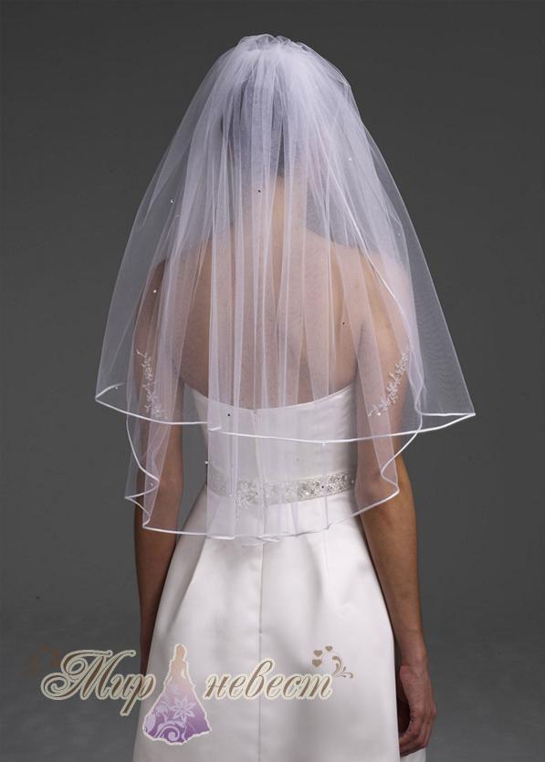 Белое платье белая фата доставка